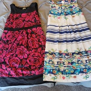 Two Motherhood Maternity Dresses
